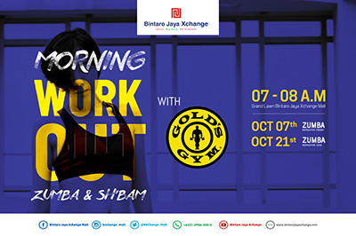 Morning Workout with Gold's gym