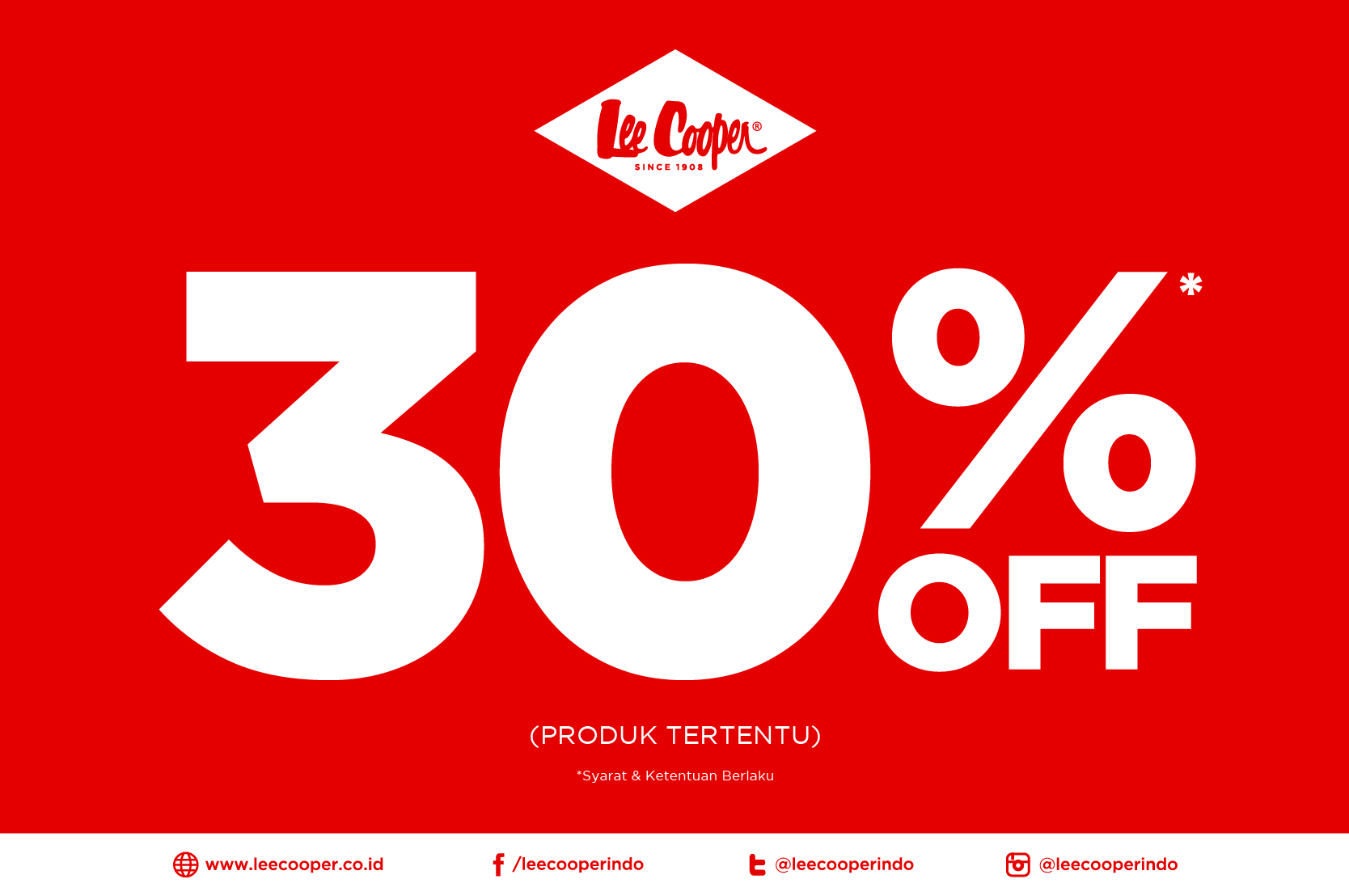 Lee Cooper Sale 30% Off